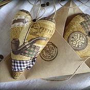 """Подарки к праздникам ручной работы. Ярмарка Мастеров - ручная работа Кофейные сердечки """"FOR HIM"""". Handmade."""