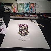 Картины и панно ручной работы. Ярмарка Мастеров - ручная работа Спаржа. Handmade.