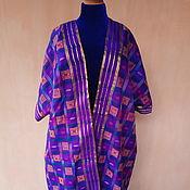 Одежда ручной работы. Ярмарка Мастеров - ручная работа Шелковый халат с купоном на подкладе. Handmade.