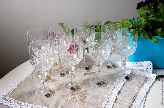 Винтажная посуда. Ярмарка Мастеров - ручная работа. Купить Винные бокалы, хруталь Bohemia. Handmade. Bohemia, антиквариат, винный бокал