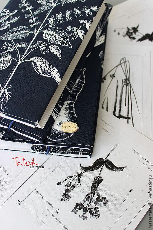 """Обложки ручной работы. Ярмарка Мастеров - ручная работа. Купить Обложки для книг """"Ботаника"""" обложка на ежедневник. Handmade. Книга, чертеж"""