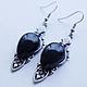 Earrings Black Onyx, Earrings, Yalta,  Фото №1