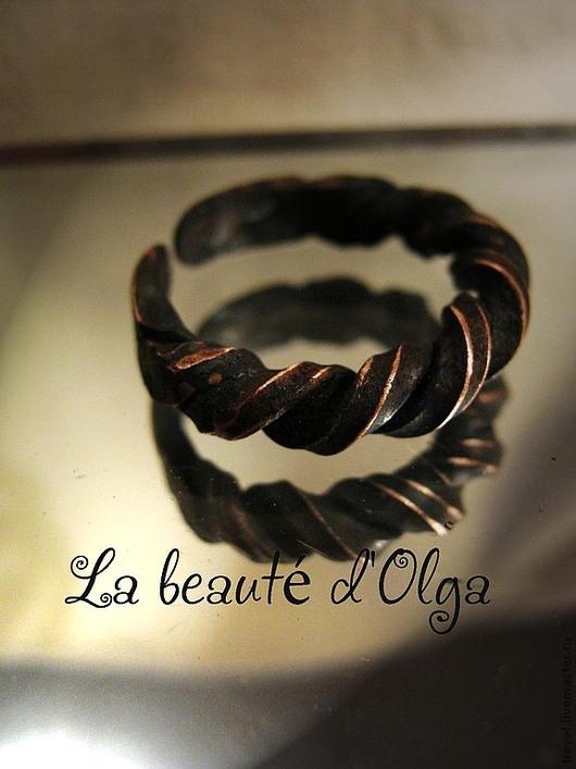 Кольца ручной работы. Ярмарка Мастеров - ручная работа. Купить Тэссо - Кованое кольцо из меди. Handmade. Кольцо, Ковка, витое