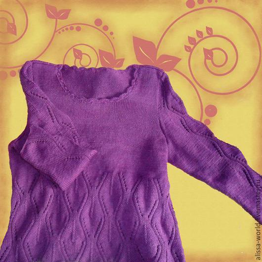 Кофты и свитера ручной работы. Ярмарка Мастеров - ручная работа. Купить Весны сиреневой цветенье. Handmade. Тёмно-фиолетовый, однотонный