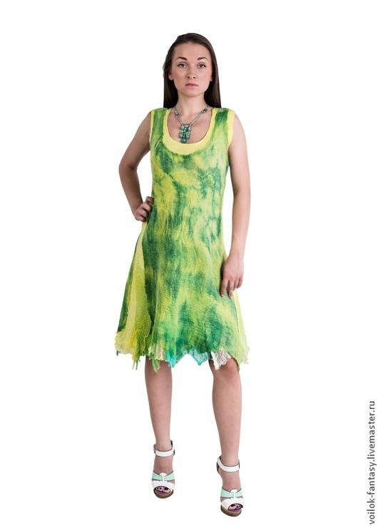 """Платья ручной работы. Ярмарка Мастеров - ручная работа. Купить Летнее платье """"Лимон и лайм"""". Handmade. Летнее платье"""