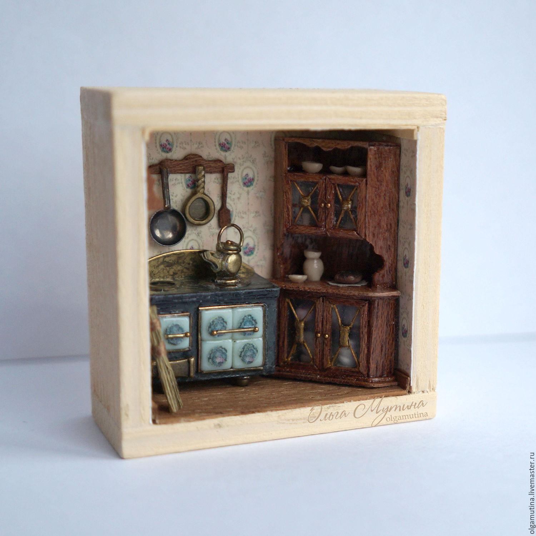"Mini Kitchen Room Box: A Roombox ""Kitchen"" 1:48"