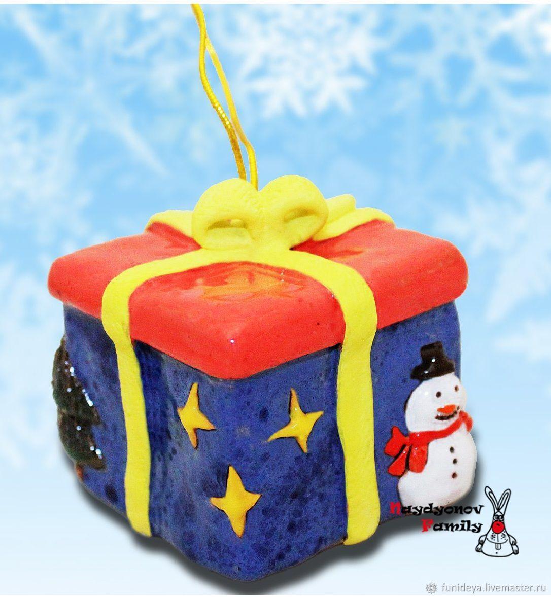 Bells handmade. Livemaster - handmade. Buy Christmas box with gifts, bells.New year, clay
