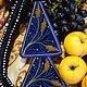 """Персональные подарки ручной работы. Ярмарка Мастеров - ручная работа. Купить Лестовка """"Золотистый виноград"""". Handmade. Тёмно-синий, старообрядчество"""