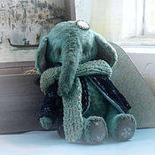 Куклы и игрушки ручной работы. Ярмарка Мастеров - ручная работа Слоник Снежинкин. Тедди. Handmade.