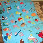Для дома и интерьера ручной работы. Ярмарка Мастеров - ручная работа Детское покрывало Азбука в технике лоскутное шитье. Handmade.