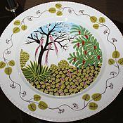 Винтаж handmade. Livemaster - original item Wall plates series