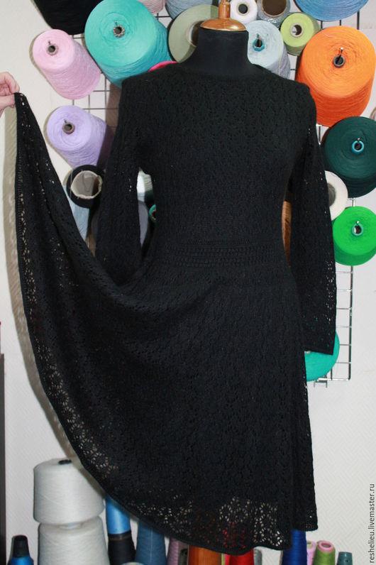 Платья ручной работы. Ярмарка Мастеров - ручная работа. Купить Платье вязаное №42 из 30% мохера.. Handmade. Платье вязаное