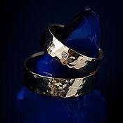 Свадебный салон ручной работы. Ярмарка Мастеров - ручная работа Золотые обручальные кольца с текстурой. Handmade.
