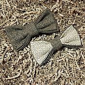 Галстуки ручной работы. Ярмарка Мастеров - ручная работа Галстук-бабочка с люрексом. Handmade.