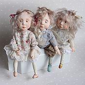 Куклы и игрушки ручной работы. Ярмарка Мастеров - ручная работа Все дети ангелы! Куклы подвижные будуарные. Handmade.