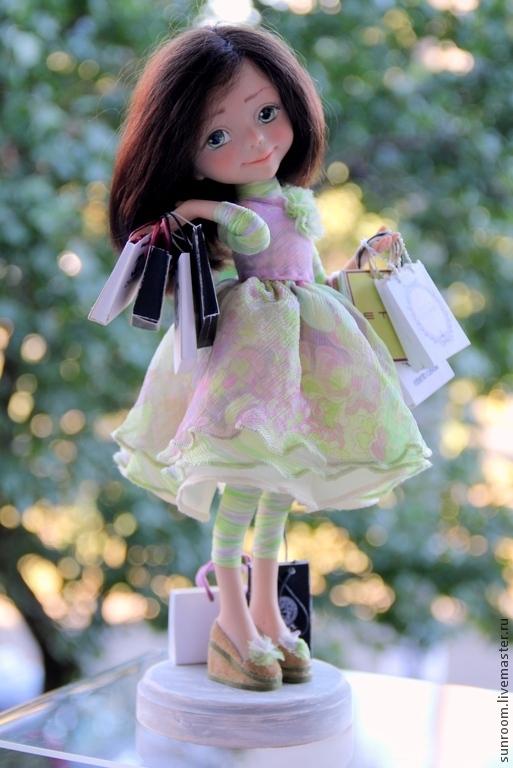 Коллекционные куклы ручной работы. Ярмарка Мастеров - ручная работа. Купить Из жизни девочки. Handmade. Бледно-розовый, шопоголик
