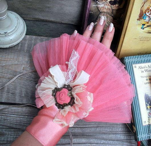 """Варежки, митенки, перчатки ручной работы. Ярмарка Мастеров - ручная работа. Купить Манжеты """" Розовые облака"""". Handmade. Манжеты"""