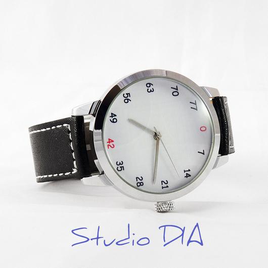 Часы. Наручные Часы. Оригинальные Дизайнерские Часы Креативные (Деления Кратны 7). Студия Дизайнерских Часов DIA.