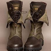 Обувь ручной работы. Ярмарка Мастеров - ручная работа Ботинки ручной работы УНИсекс милитари. Handmade.