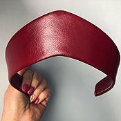 Русский стиль handmade. Livemaster - original item Kokoshnik burgundy CHERRY made of eco leather. Handmade.