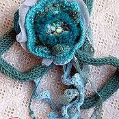 Украшения handmade. Livemaster - original item Knitted brooch