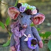 Куклы и игрушки ручной работы. Ярмарка Мастеров - ручная работа Мышка тедди Ежевичка. Handmade.