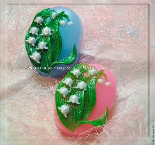 """Мыло ручной работы. Ярмарка Мастеров - ручная работа. Купить Мыло """"Ландыш 2"""". Handmade. Зеленый, весна, мыльный цветок"""