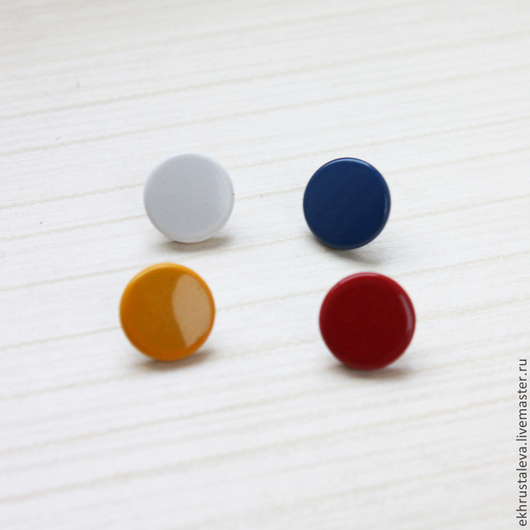 Шитье ручной работы. Ярмарка Мастеров - ручная работа. Купить Цветная пробивная кнопка, 10 мм, 3 цвета. Handmade.