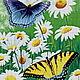 Набор вышивания бисером ` Бабочки и ромашки`   Набор состоит -  авторская схема, чешский бисер 33  цвета, канва, игла бисерная, нить для вышивания.   Цена полного набора 5120 руб  Размер готовой