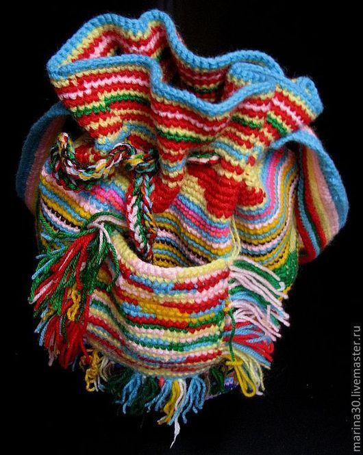 Женские сумки ручной работы. Ярмарка Мастеров - ручная работа. Купить Вязаная сумка Колумбийская мочила. Handmade. шерсть