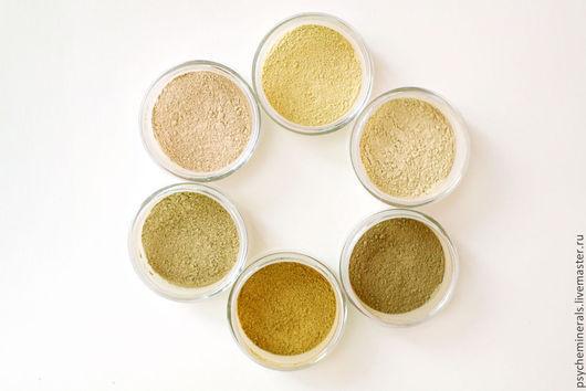 Оттенки, начиная с верхнего, по часовой стрелке: Light-Gold, Fair-Nude, Rose-Bronze,  Gold-Bronze,  Nude-Bronze,  Light-Rose
