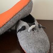 """Обувь ручной работы. Ярмарка Мастеров - ручная работа Валяные тапки """"Сепия"""". Handmade."""