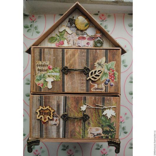 Мини-комоды ручной работы. Ярмарка Мастеров - ручная работа. Купить Комод Лесной домик. Handmade. В лесу, осень