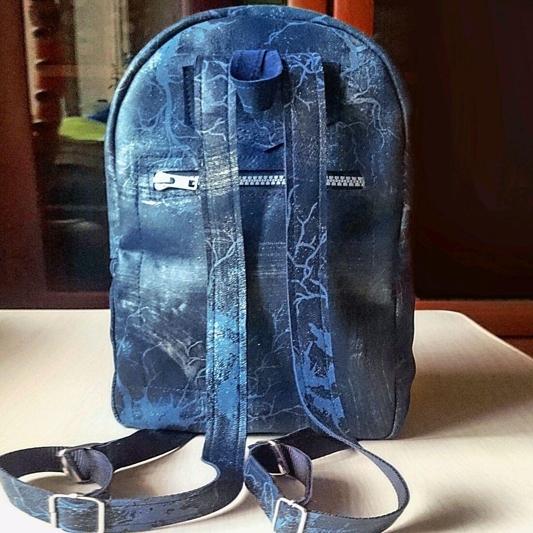 9054ede6fb07 Блестящий кожаный рюкзак ручной работы