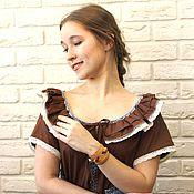 Одежда ручной работы. Ярмарка Мастеров - ручная работа Платье летнее из хлопка Барышня. Handmade.