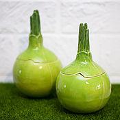 Посуда handmade. Livemaster - original item Jar for loose Onions. Handmade.