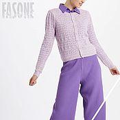 Одежда handmade. Livemaster - original item cardigans: Purple women`s cardigan for summer. Handmade.