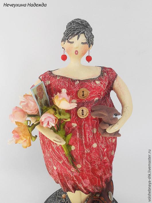 """Коллекционные куклы ручной работы. Ярмарка Мастеров - ручная работа. Купить Интерьерная кукла """"Воспитательница Ирина Ивановна"""" толстушка статуэтка. Handmade."""
