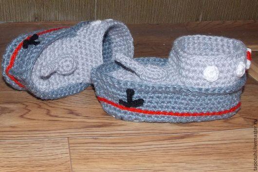 Детская обувь ручной работы. Ярмарка Мастеров - ручная работа. Купить детские тапки-крейсер. Handmade. Серый, оригинальные подарки