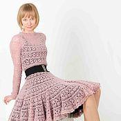 Одежда ручной работы. Ярмарка Мастеров - ручная работа платье цвета пыльной розы. Handmade.