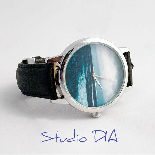 Часы. Наручные Часы. Часы На Заказ. Оригинальные Дизайнерские Часы Море. Студия Дизайнерских Часов DIA.