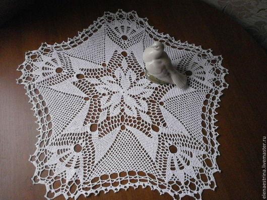 """Текстиль, ковры ручной работы. Ярмарка Мастеров - ручная работа. Купить Салфетка, 55 см, """"Рубиновая звезда"""". Handmade."""