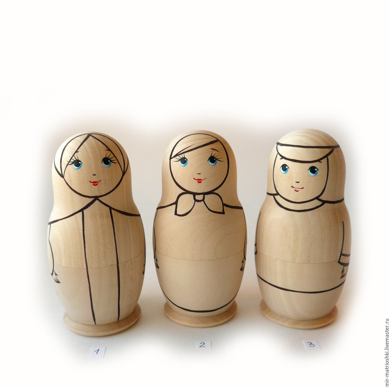 Matreshka 1 places. ' Coloring ' h 10,7 cm. (opening.) 5 PCs, Dolls1, Sarov,  Фото №1