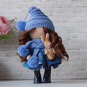 Тыквоголовка ручной работы. Ярмарка Мастеров - ручная работа Кукла интерьерная игровая в синем. Handmade.