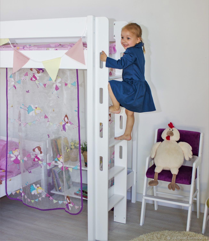 Кровать чердак Эовин белая XL высота 180 см, Мебель, Волгодонск, Фото №1
