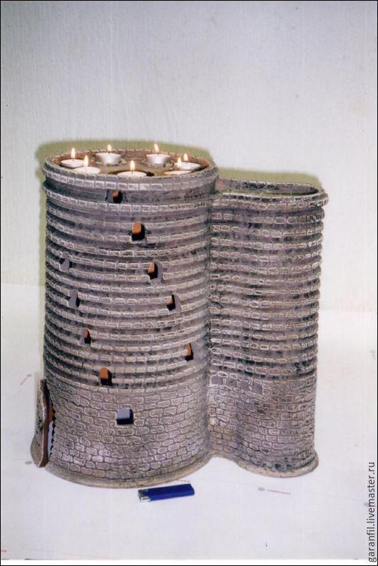 Персональные подарки ручной работы. Ярмарка Мастеров - ручная работа. Купить Девичья башня керамика. Handmade. Разноцветный, мастерская гончаровъ