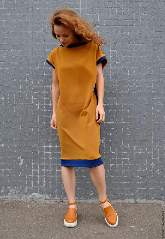 Платья ручной работы. Ярмарка Мастеров - ручная работа. Купить Платье свободного силуэта. Handmade. Однотонный, платье, свободный силуэт