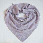Аксессуары handmade. Livemaster - original item scarves: Scarf knitted from mink/angora purple ice scarf fluffy. Handmade.