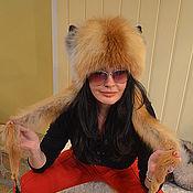 Аксессуары ручной работы. Ярмарка Мастеров - ручная работа Шапка из лисы с забавными ушками. Handmade.