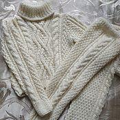 handmade. Livemaster - original item Knitted warm suit for 4-6 years. Handmade.
